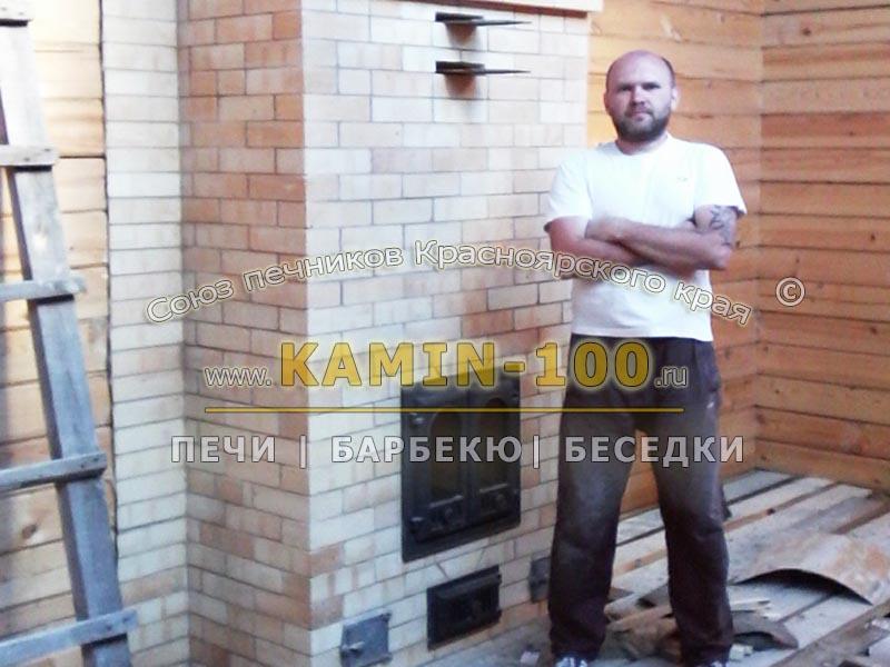 Кирпичная печь отопления дома в Красноярске