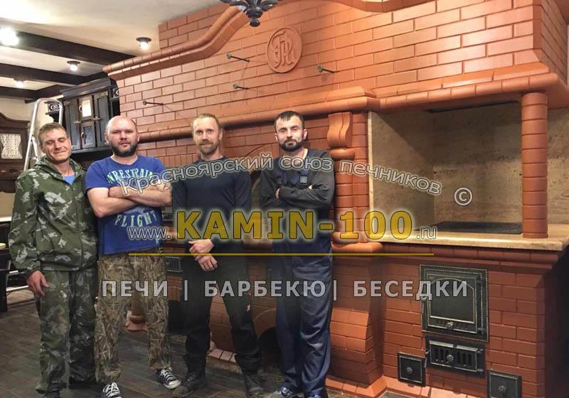 Печь барбекю из кирпича в Красноярске цена