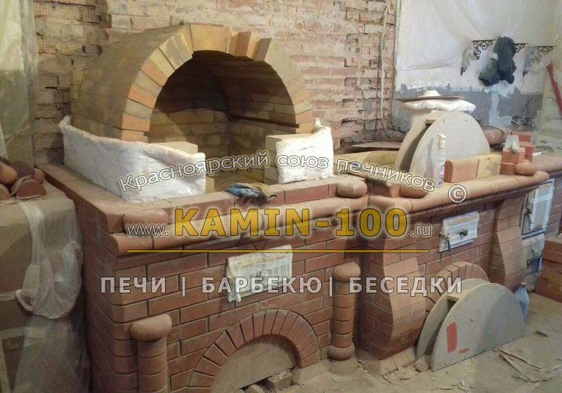 Мини-русская печь и барбекю